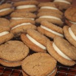 Ginger Molasses  Sandwich Cookies