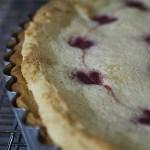 Peach Cream Tart with Raspberry Hearts