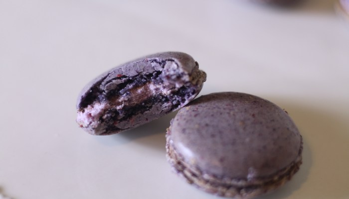Blueberry Cheesecake Macarons (Nut-Free)
