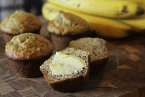 Easy and Moist Banana Muffins