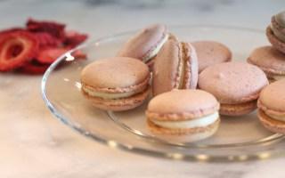 Strawberry Cheesecake Nut-free Macarons