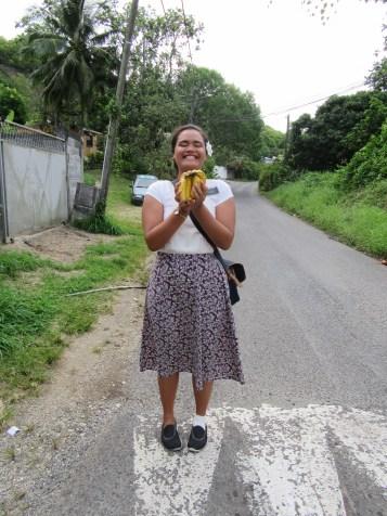 a contact gave us bananas!!
