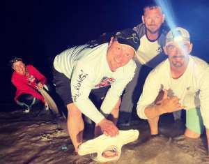 Catch of a lifetime for a veteran this weekend with a 6ft 9inch Hammerhead Shark!! OATH Shark Fishing Team