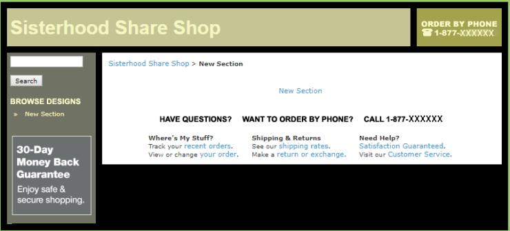 Sisterhood Share Shop