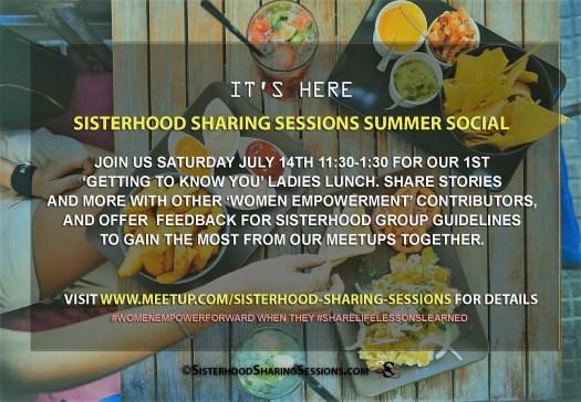 Sisterhood Summer Social Saturday Meetup-July
