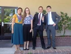 Our district minus the Zone Leaders: Sister Robinson, Elder Stucky and Elder Grisham. Elder Stucky is leaving to go to East LA :(