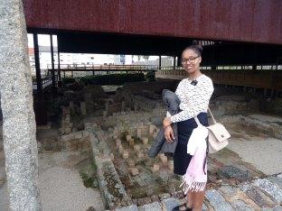Sister Mauricio at Roman Ruins in Braga