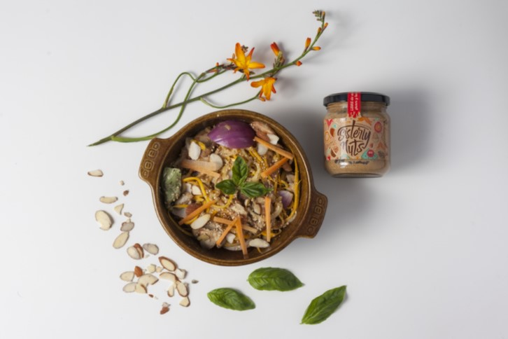 Receta: Tallarines de Zucchini y Mantequilla de Almendras