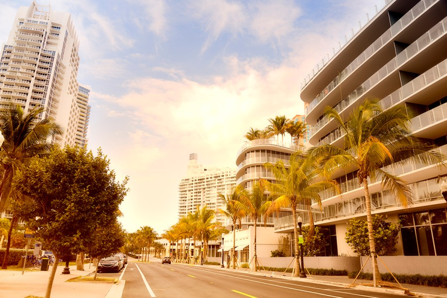 Streets of Miami, South Beach, Florida, USA