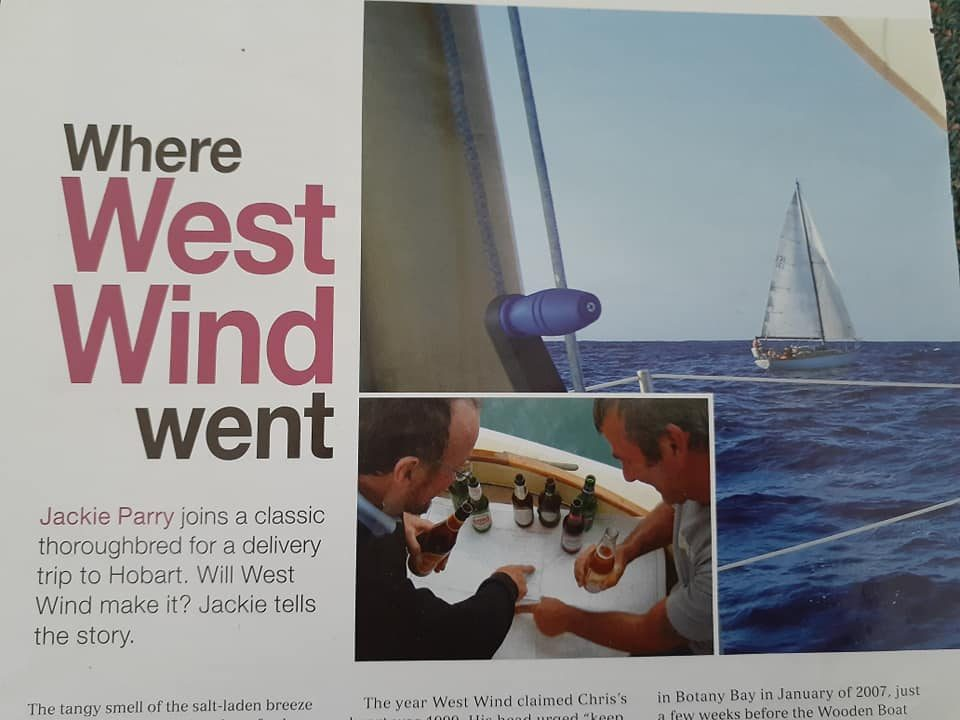 Article in Cruising Helmsman, Noel and Chris contemplating the passage plan