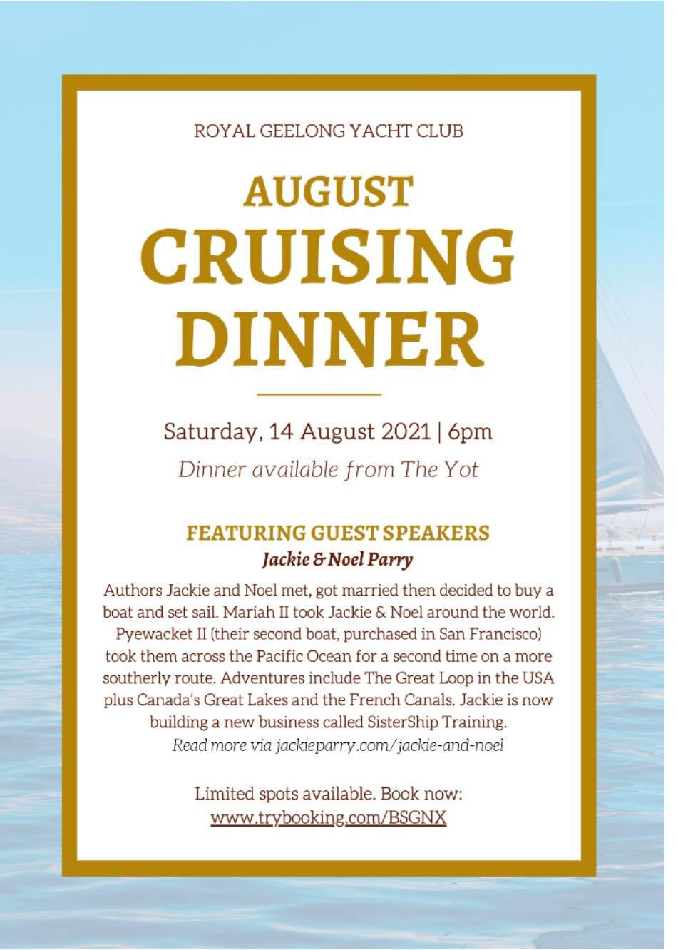 a talk on living on board and circumnavigating
