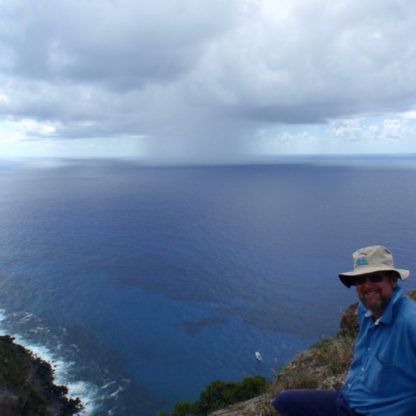 Squall out to sea: Easter Island