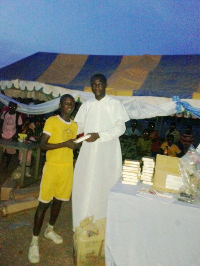 a Bible to 400 meter race winner  20150312_190005