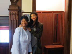 Proud gramma and granddaughter