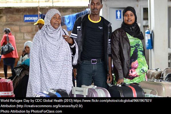 Refugees traveling