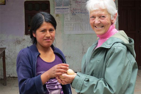 Sister Rita Coumont SCIC in Peru ministry