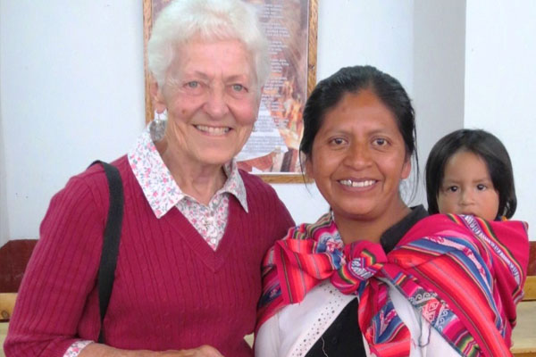 Sister Rita Coumont SCIC in Peru mountains