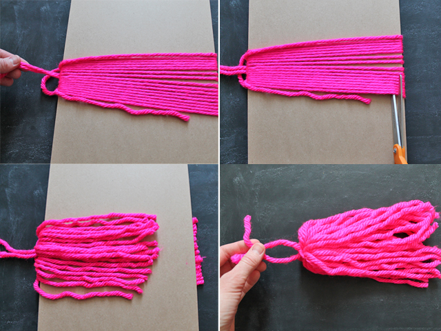 yarn tassel steps 9-12