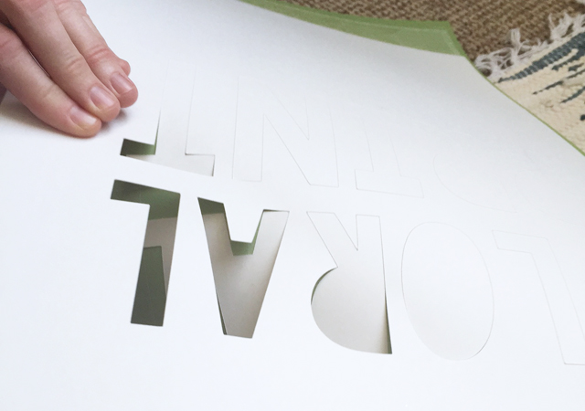 cutting phrase with Cricut