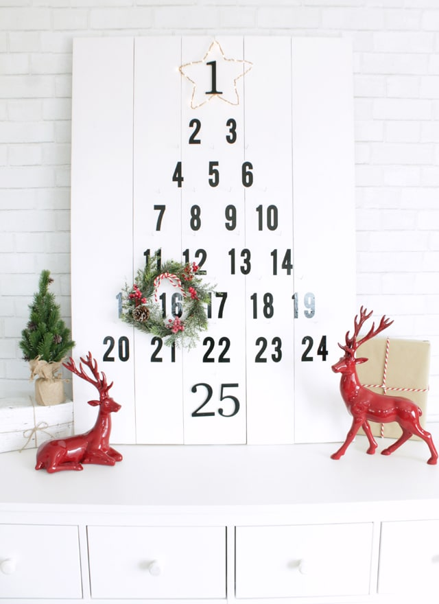 DIY Wooden Christmas Advent Countdown | My Sister's Suitcase