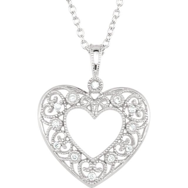 Diamond Heart Necklace 1