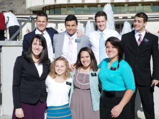 Aubree's District at the Provo Temple