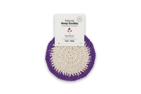 Natural hemp scrubby