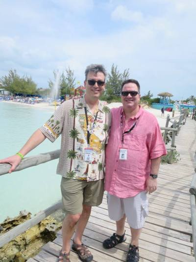 Steve and Brad on The '80s Cruise 2016