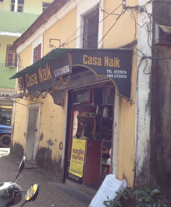 The Naik sationary shop - since the early 1940s