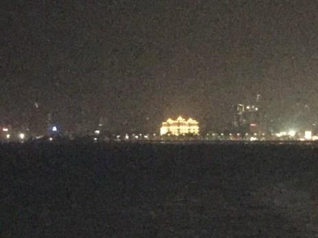 The Saifee hospital shines across the bay