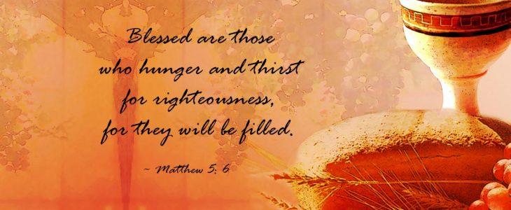 Image result for blessed are those who hunger and thirst for righteousness