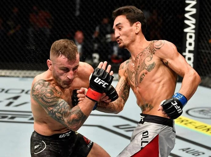 Max Holloway vs Yair Rodriguez in the fight for UFC Fight Night 191 on July 17