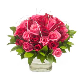 romantic rose valentines arrangement