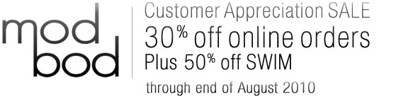 Mod Bod Customer Appreciation SALE