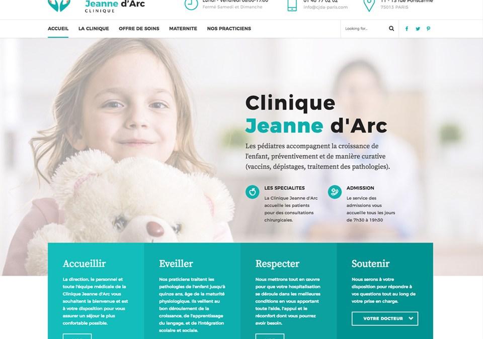 Site Internet Médical – Clinique JDA