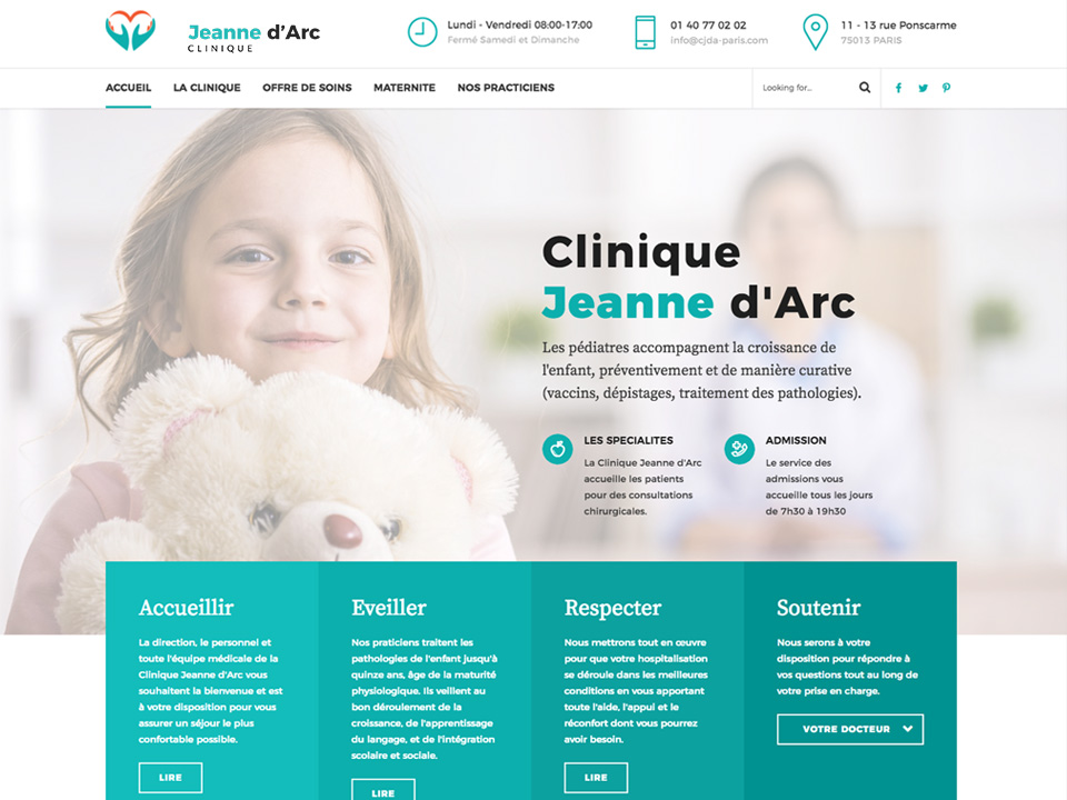 Site Internet Médical – Clinique JDA