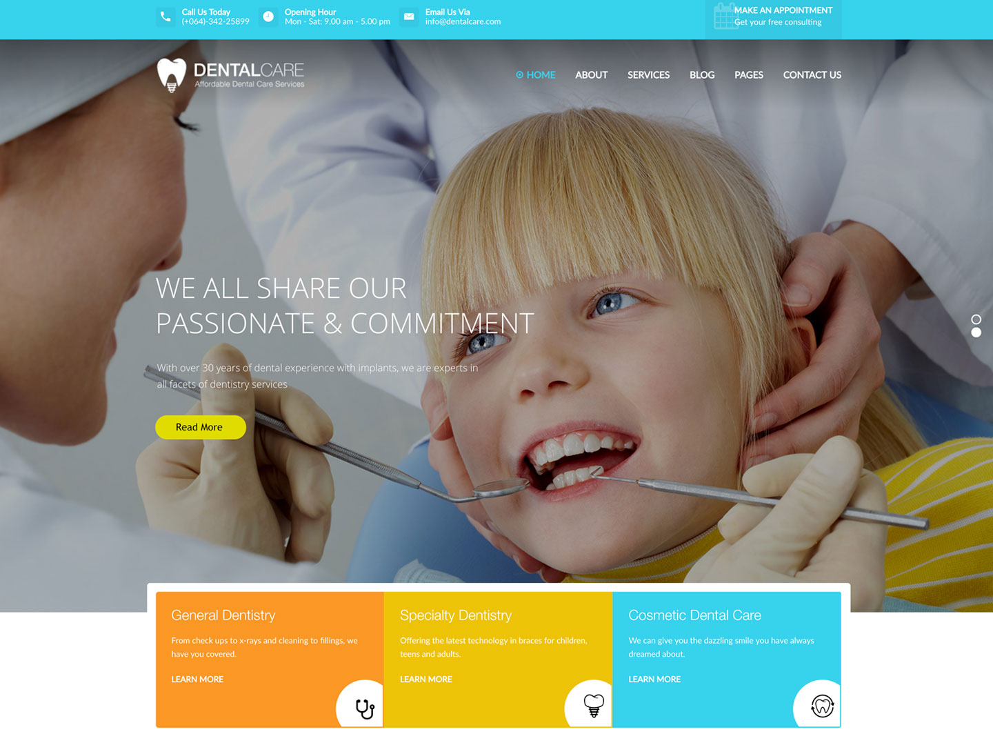 exemple de site internet dentiste 2