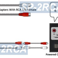 Rca Plug To Speaker Wire Diagram Gfci Circuit Adapter Kit Converts 2 Channels Of Terminals Jacks For Installation