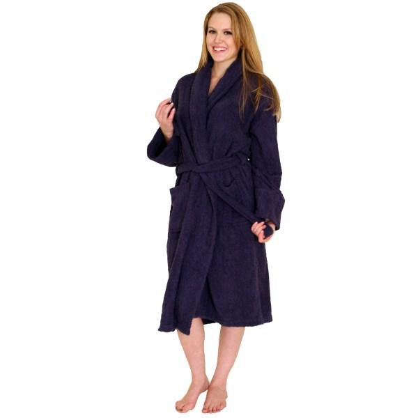 Bathrobe Terry Cloth Terrycloth Bath Robe - 39.99 Women And Men 100 Cotton