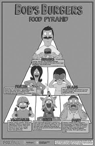 Buy Bobs Burgers Black and White Posters on sale