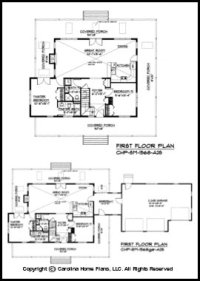 Small 2 Story Open House Plan CHP-SM-1568-A2S Sq Ft ...