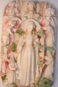 Assomption de la Vierge, albâtre 15ème, traces de dorure et de polychromie