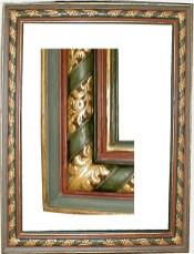 Cadre de grande taille, 17ème, bois doré et polychromé