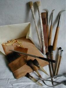Les outils du doreur