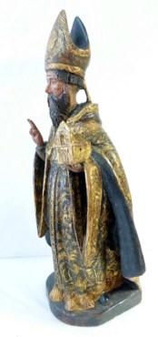 Statuette bois doré et polychrome