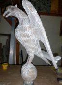 Aigle après enduction du bois