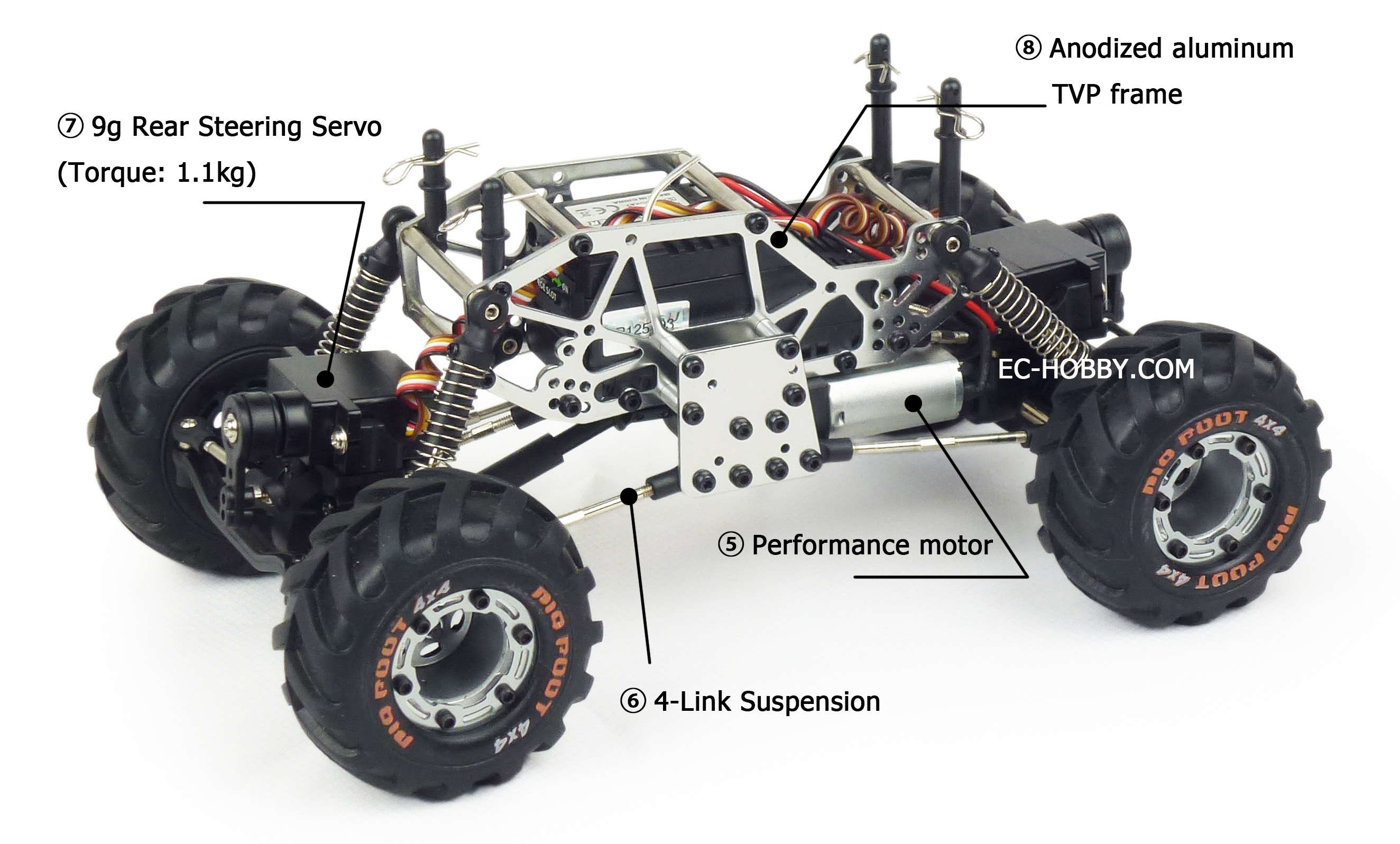 Image result for mini aluminium rc rock crawler