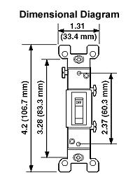 Leviton 1451-CP 15 Amp, 120 Volt, Toggle Framed Single