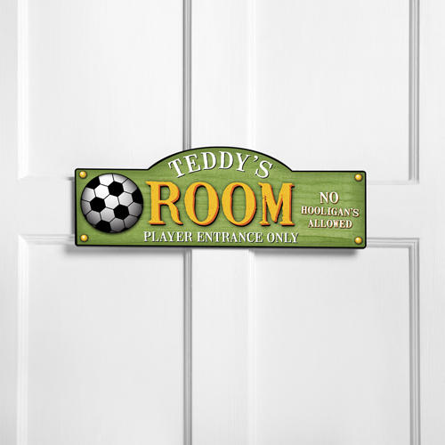Personalized Kids Room Sign Kick It Up, Personalized Room