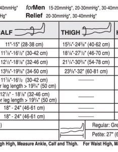 Size chart also jobst relief waist high pantyhose compression stockings mmhg rh hightidehealth
